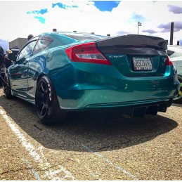 KevMannz Full Carbon Fiber Rear Duck Bill Trunk Spoiler Civic Coupe 2012-2015